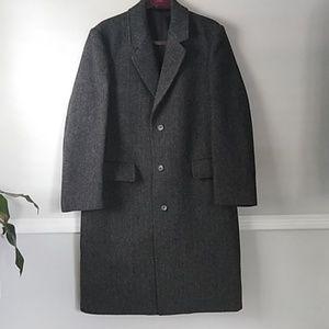 London fog 100% wool pea coat grey sz 42